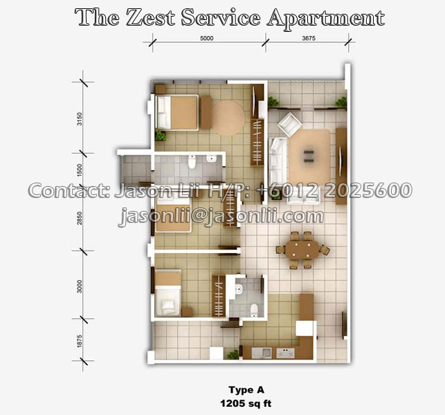 Apartment Listing Sites: The Zest @ Kinrara 9 - Puchong, Malaysia