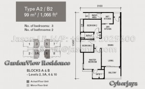 Type A2 or B2 Floor Plan