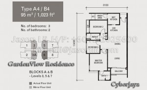Type A4 or B4 Floor Plan