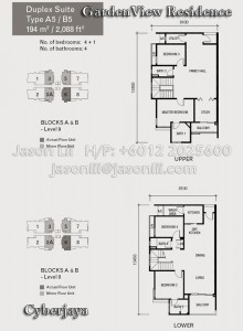 Type A5 or B5 Floor Plan