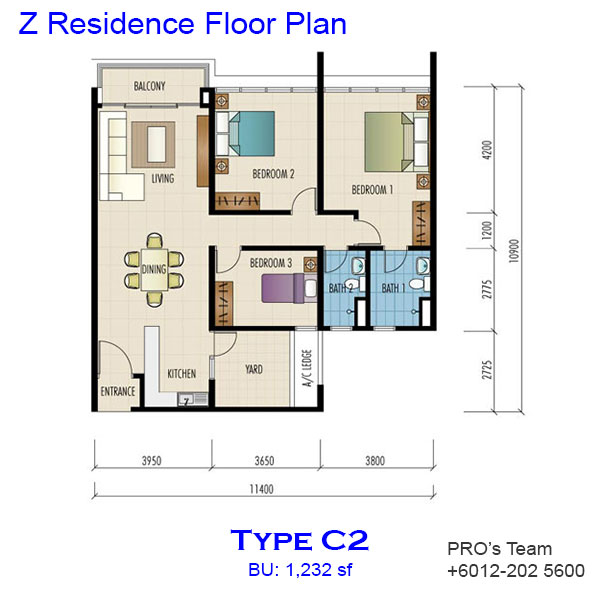 Z residence bukit jalil kuala lumpur jason lii for Find floor plans by address